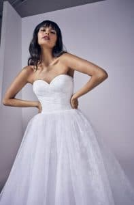 Amora wedding dress by Suzanne Neville, Available at Ellison Gray Bridal in Durham