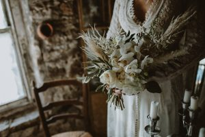 Bridal bouquet by Floral Quarter, for a blog with Ellison Gray Bridal of Durham. Image by Unfurl Photography