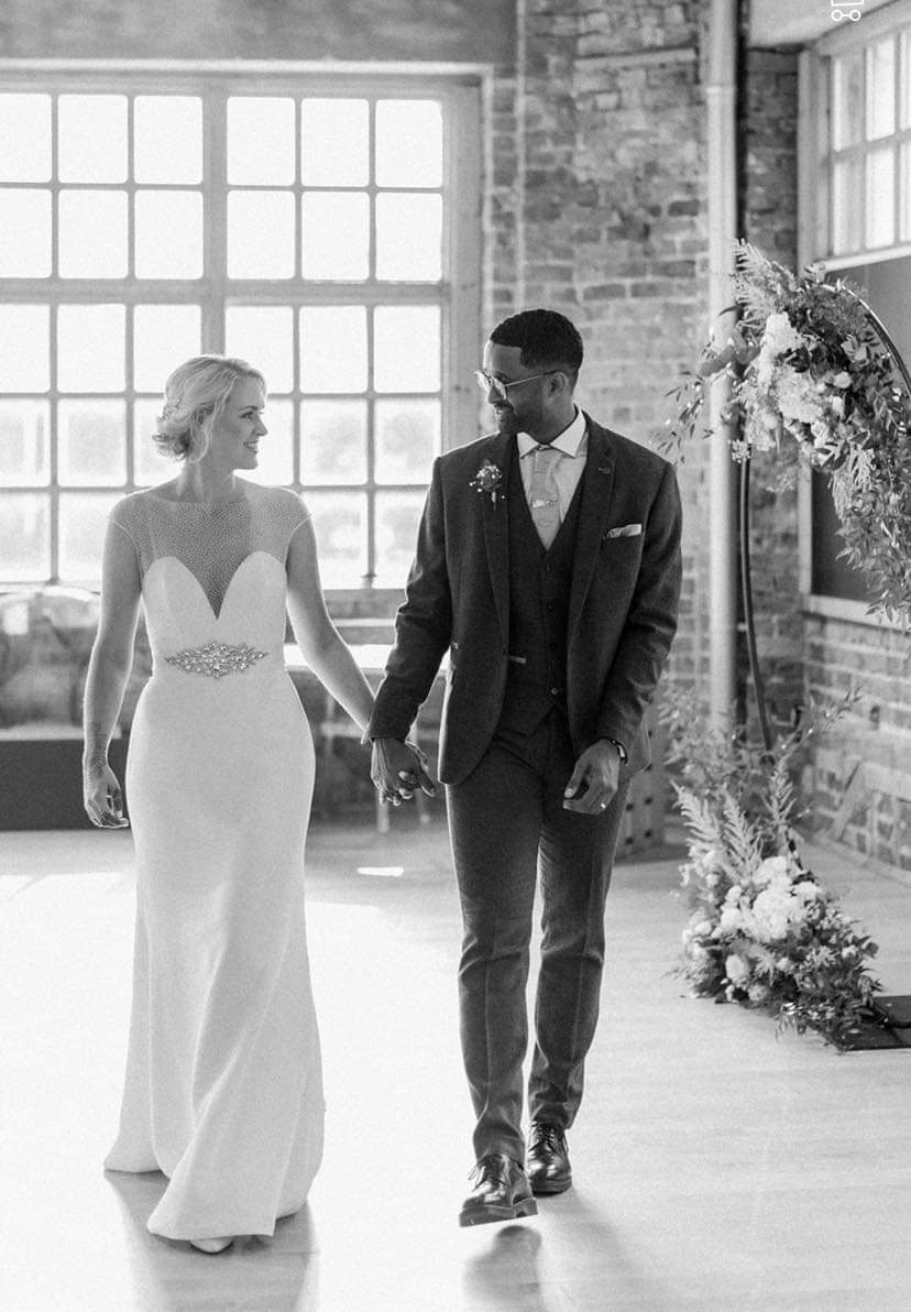 Lyn Ashworth Mimosa Gown worn by our Bride Laura at The Biscuit Factory in Newcastle